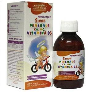 Sirop minerale, Ca, Mg, vitamina D3