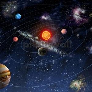 6. Fototapet copii sistemul solar
