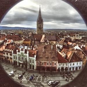 Fototapet Romania urbana Sibiu vision