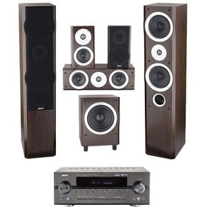 Sistem Audio 5.1 Akai AS008RA-6100 + Sistem Boxe SS013A-260, 220W RMS