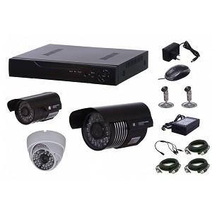 3.Kit supraveghere video AKU 3 camere 700 TVL