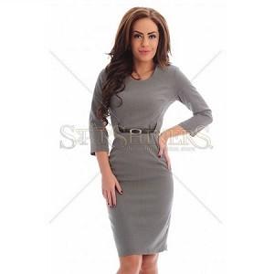 5.Rochie PrettyGirl Modesty Grey