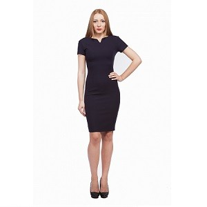 7.Rochie office bleumarin Aelya Business Lady