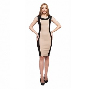 8.Rochie in contrast cromatic Aelya Business Lady