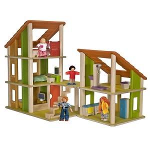Castel papusi cu mobilier Plan Toys
