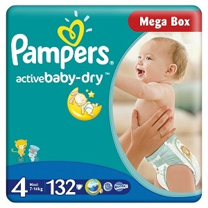 2.Pampers Active Baby 4 Maxi Mega Box
