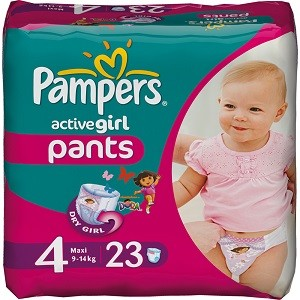 5.Pampers Active Girl 4 Maxi CP