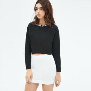 8.Forever21 Faux Gem-Embellished Top