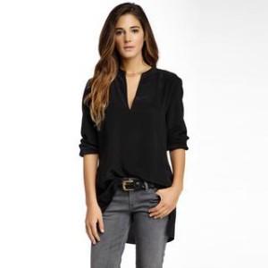 9.Acrobat Side Slit Silk Tunic