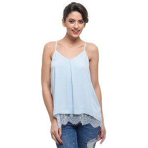 10.Rasperry Lace Top