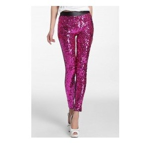 10.WildFashion Sequin Leggings CL329-55