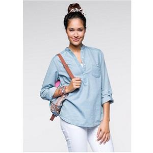 5.Rainbow Jeans Shirt