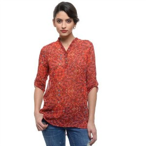 7. Raspberry Floral Tunic