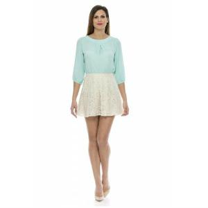 9. Lashez Lace Miniskirt