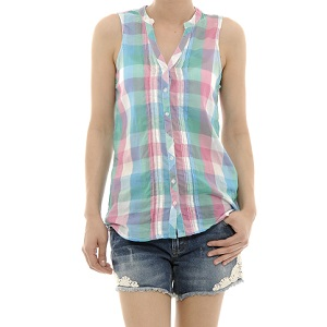 4.Kenvelo Plaid Sleeveless Tunic