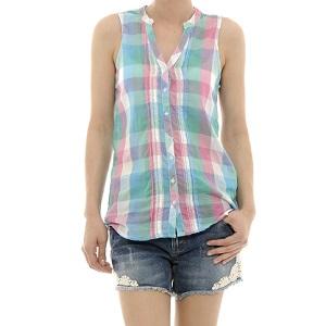 4.Kenvelo Plaid Sleeveless Tunic