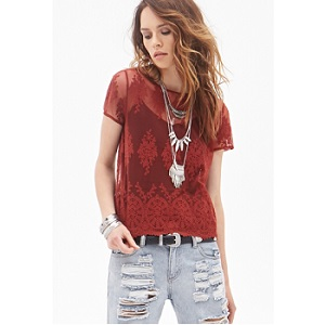 7.Forever 21 Mesh Lace