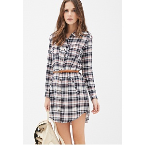 1. Forever 21 Pintucked Gingham