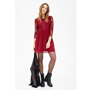 1.Forever 21 Lace Combo Smock