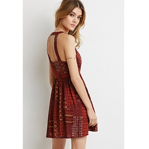 8.Forever 21 Cutout Mixed Print