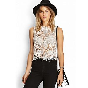 9. Forever 21 Metallic Crochet