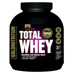 4.Goldnutrition Total Whey Ciocolata