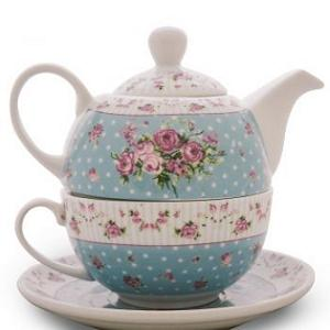 5. Chinastore Tea for One Shabby Blu (cu ceasca, ceramica)