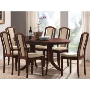 3.Avana + 6 scaune (lemn masiv, set living)
