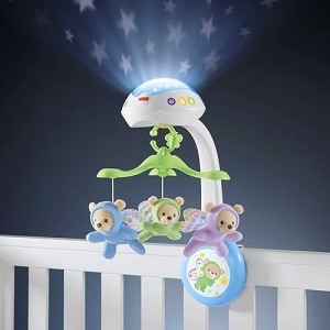 3.Fisher-Price Noaptea Instelata (bebelusi, proiectie si muzica