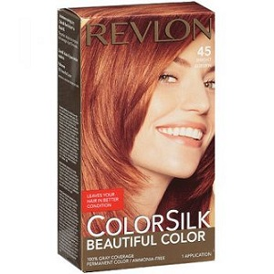1. Revlon ColorSilk 45 Bright Auburn