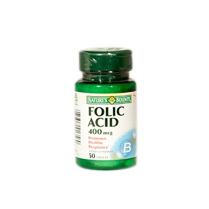 1.Walmark Nature`s bounty Folic Acid