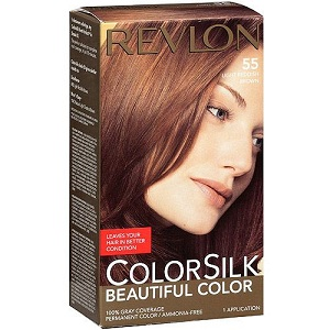 2.Revlon ColorSilk 55 Light Reddish Brown