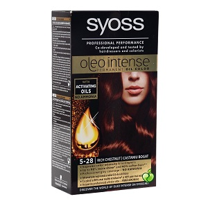 3.Syoss Color Oleo Intense 5-28 Rich Chestnut