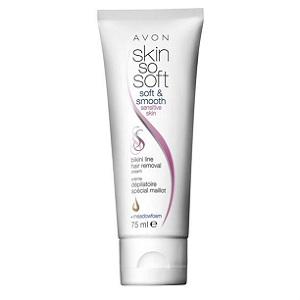 2. Avon Skin So Soft Crema depilatoare pentru zona inghinala