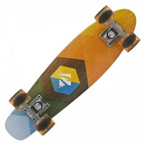 2.Skateboard Powerslide Juicy Woody Hexagon
