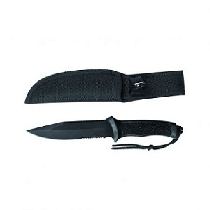 7. Mil-Tec Black Hunting Knife