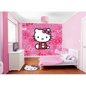 8.Walltastic Hello Kitty