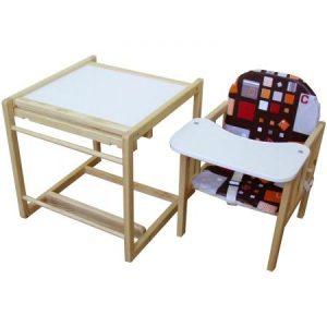 Scaun de masa pentru bebe din lemn