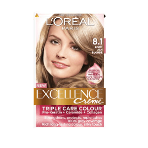 2.L'Oreal Paris Excellence Creme 8.1 Blond Clair Cendre